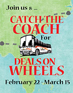 Catch the Coach for Deals on Wheels!